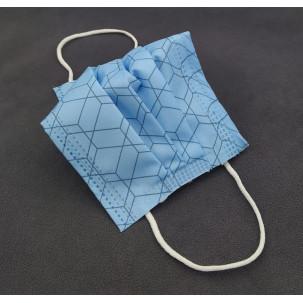 Mascarillas Higiénicas Homologadas 3 capas reutilizables azul/gris estampadas...