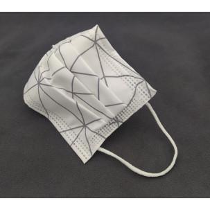 Mascarillas Higiénicas Homologadas 3 capas reutilizables blanca/gris...